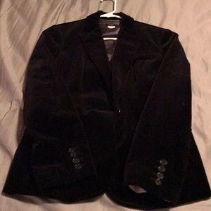 Jcrew black velvet blazer